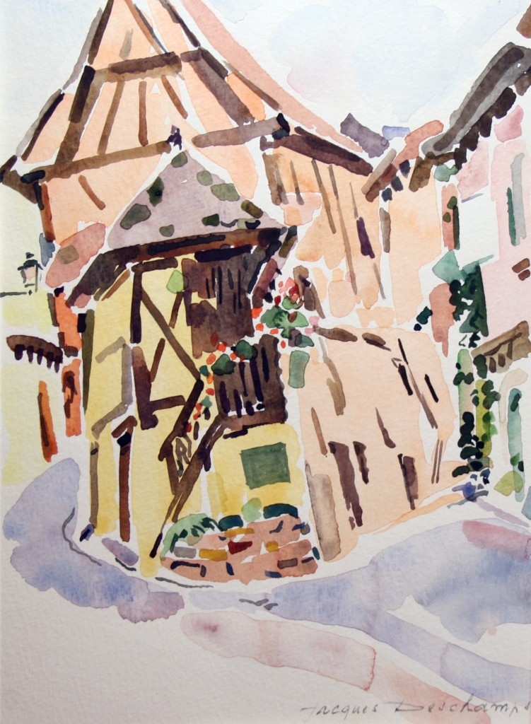 Artwork picture : Jacques Deschamps, Eguisheim