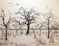 Artwork preview : Engravings, Deschamps : Arbres et corbeaux
