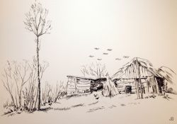 Artwork preview : Etchings, Cabanes en Brière