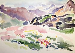 Artwork preview : Watercolors, Deschamps : Fleurs au Col d'Allos