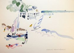 Artwork preview : Watercolors, Deschamps : Les cabines 1900
