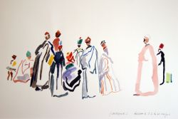 Artwork preview : Watercolors, Deschamps : Le conteur au turban rouge