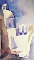 Artwork preview : Watercolors, Deschamps : L'église Haghios Minas