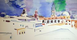 Artwork preview : Watercolors, Deschamps : Eglise et campaniles