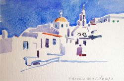 Artwork preview : Watercolors, Deschamps : Village grec