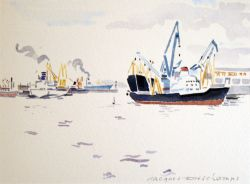 Artwork preview : Watercolors, Deschamps : Port du Pirée