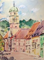 Artwork preview : Watercolors, Kaysersberg