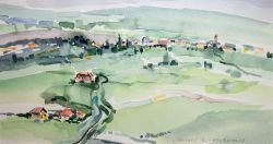 Artwork preview : Watercolors, Plaine d'Alsace