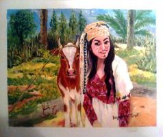 Artwork preview : Paintings, Bougdiri : The Village Woman