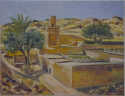 Artwork preview : Paintings, Village de Sidi Lahsen
