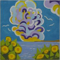 Artwork preview : Paintings, Les nuages