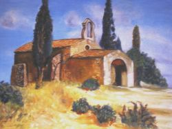 Artwork preview : Oil Painting, chapelle provençale