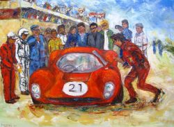 Artwork preview : Oil Painting, 24 heures du mans