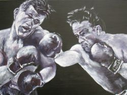 Artwork preview : Oil Painting, Marcel Cerdan