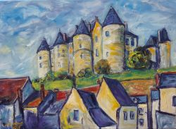 Artwork preview : Oil Painting, chateau  luynes