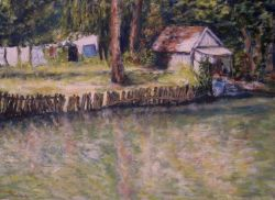 Artwork preview : Oil Painting, bord de l'eau