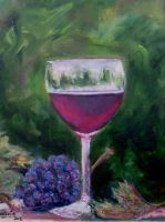 Artwork preview : Oil Painting, vin primeur