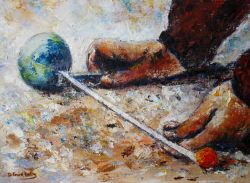 Artwork preview : Oil Painting, Pétanque