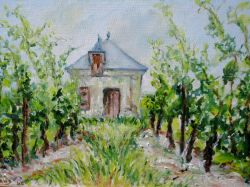 Artwork preview : Oil Painting, maison de vignes
