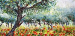 Artwork preview : Oil Painting, Coquelicots