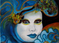 Artwork preview : Oil Painting, masque vénitien