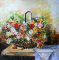 Artwork preview : Oil Painting, Dawy : bouquet