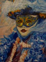 Artwork preview : Dawy, Oil Painting, masque vénitien