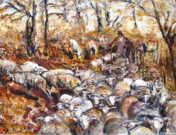 Artwork preview : Oil Painting, transhumance