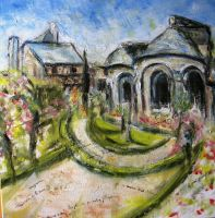Artwork preview : Oil Painting, Le prieuré de st cosme