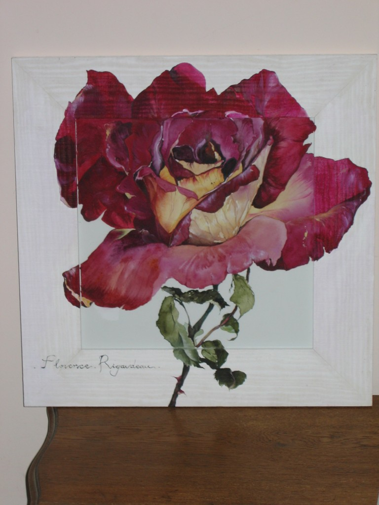 Artwork picture : Florence Rigaudeau, Rose rouge n°2