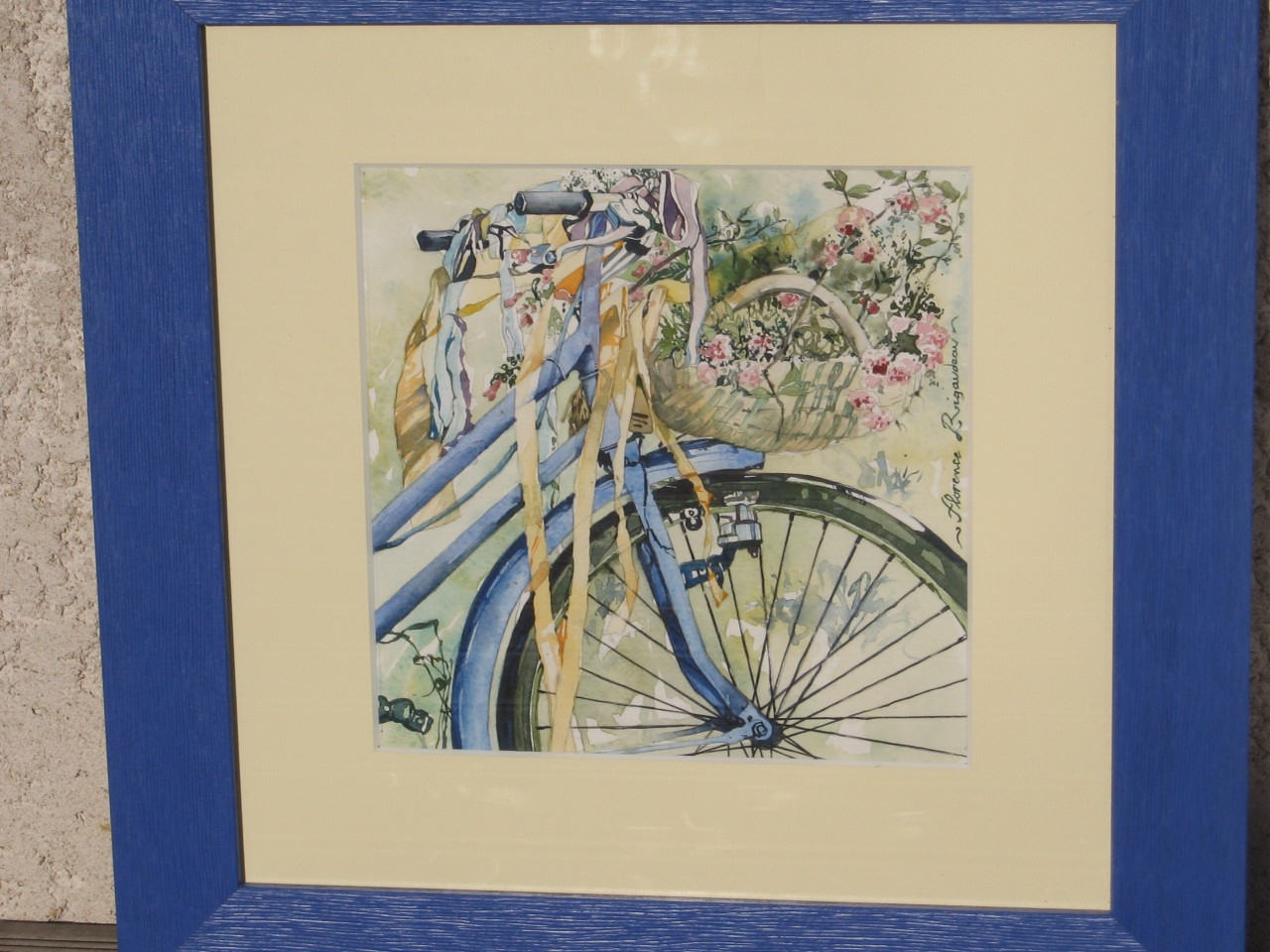 Artwork picture : Florence Rigaudeau, bicyclette