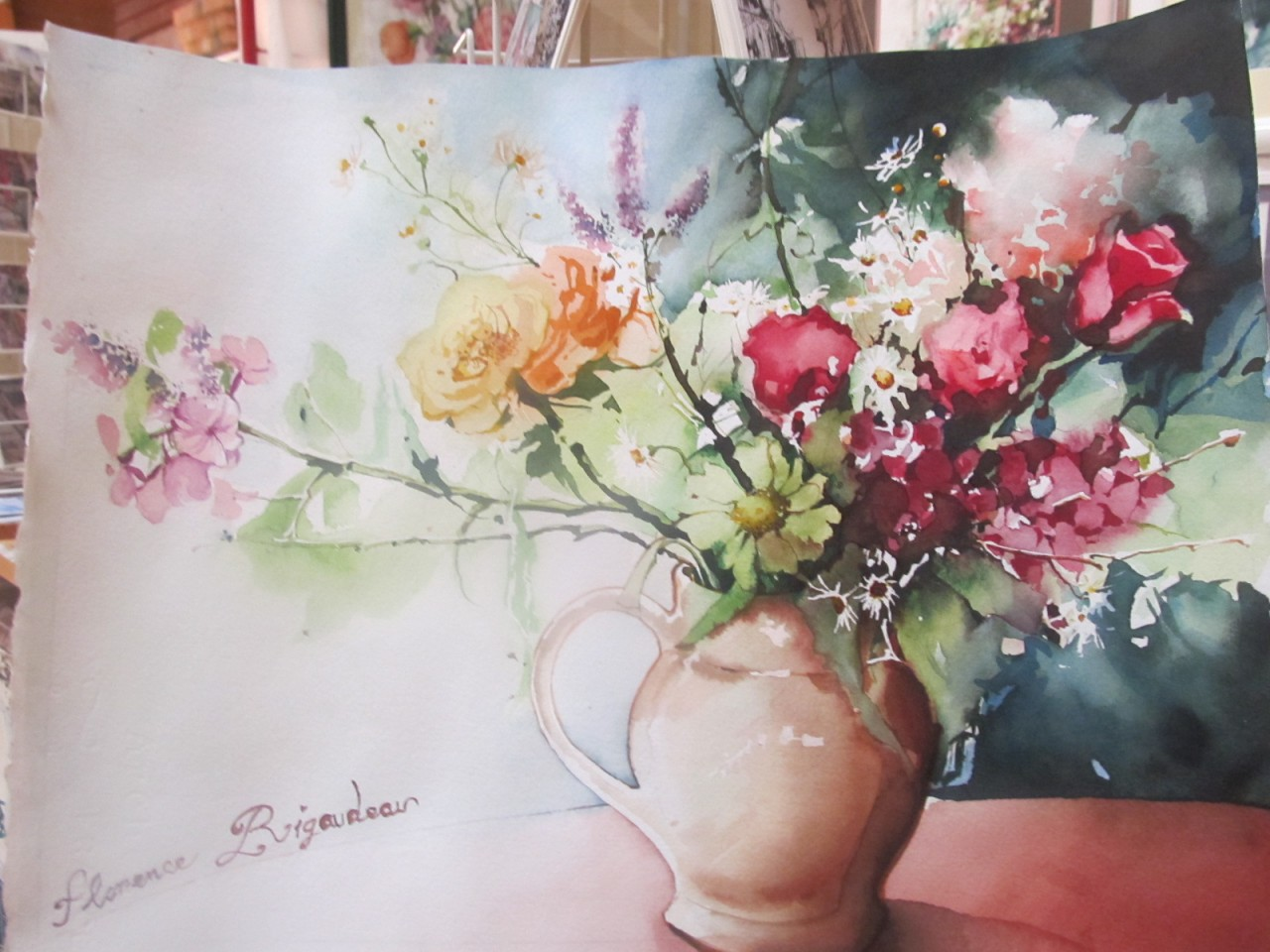 Artwork picture : Florence Rigaudeau, petit bouquet