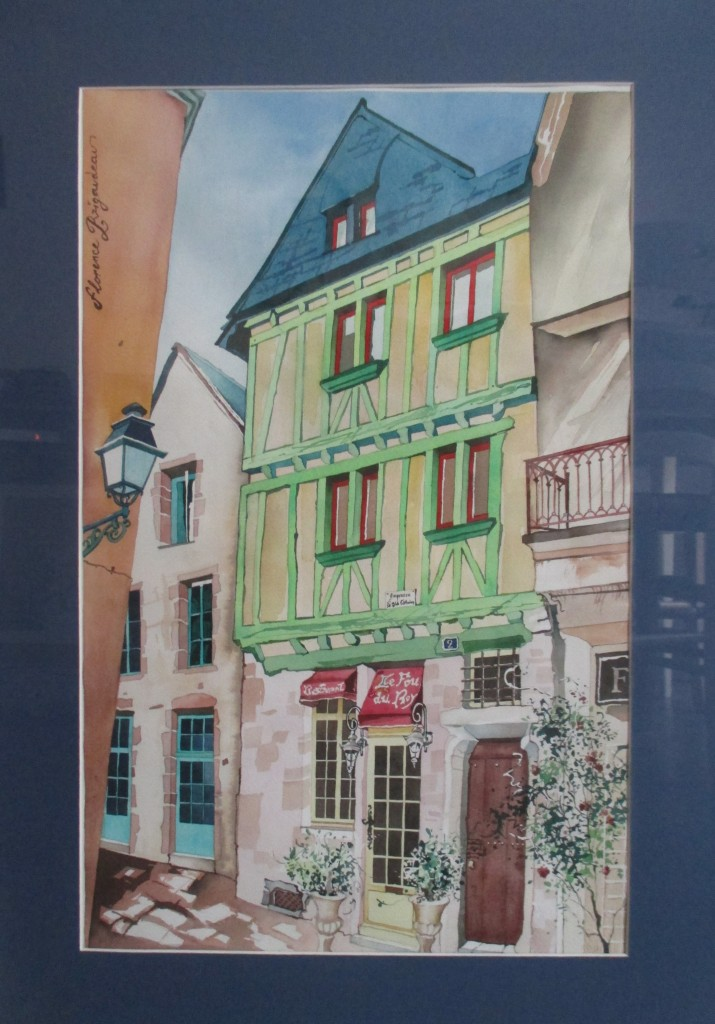 Artwork picture : Florence Rigaudeau, appartement place du Vieux Mans