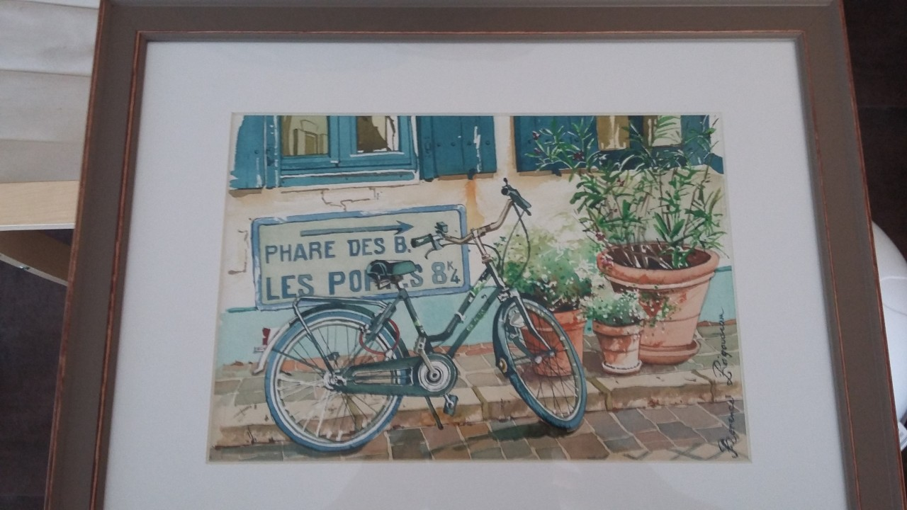 Artwork picture : Florence Rigaudeau, bicyclette île de Ré ( 1 )