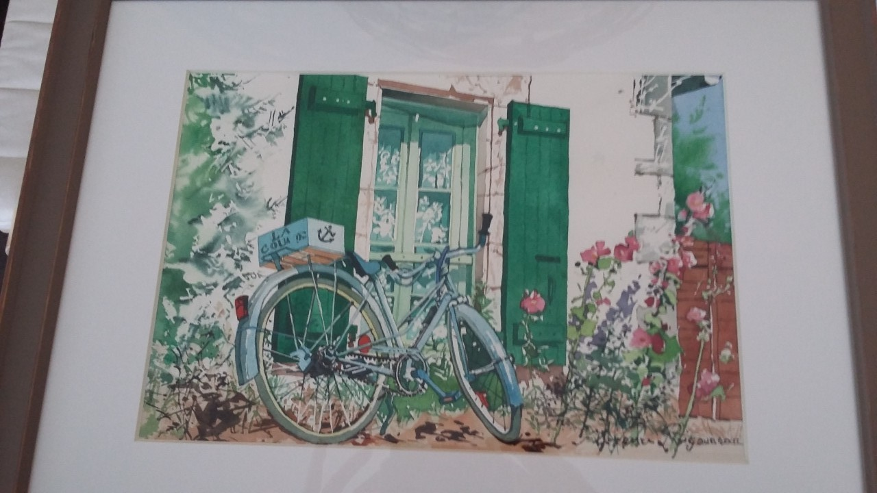 Artwork picture : Florence Rigaudeau, bicyclette île de Ré ( 2 )