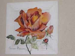 Artwork preview : Watercolors, Rose orange