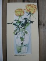 Artwork preview : Rigaudeau : vase et roses jaunes