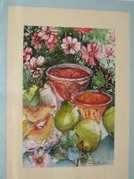 Artwork preview : Watercolors, Rigaudeau : Confiture de coings