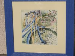 Artwork preview : Watercolors, Rigaudeau : bicyclette