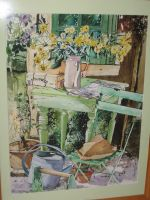 Artwork preview : Watercolors, Rigaudeau : Chaise verte