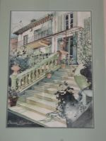 Artwork preview : Watercolors, Rigaudeau : Escalier n°2