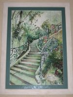Artwork preview : Watercolors, Rigaudeau : Escalier n°1