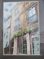 Artwork preview : Watercolors, Rigaudeau : rue de la Truie qui file