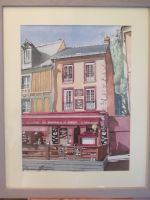 Artwork preview : Watercolors, Rigaudeau : restaurant la baraque à boeuf