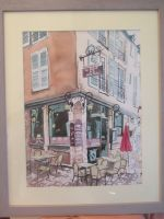 Artwork preview : Watercolors, Rigaudeau : restaurant la Vieille Porte