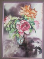 Artwork preview : Rigaudeau : petit vase de roses