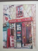 Artwork preview : Watercolors, restaurant auberge des 7 plats ( 3 )