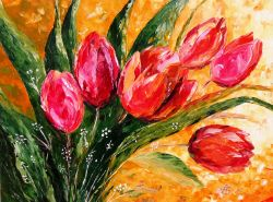 Artwork preview : Red Tulips