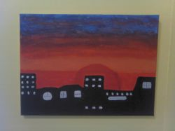 Artwork preview : Acrylic, Dark City