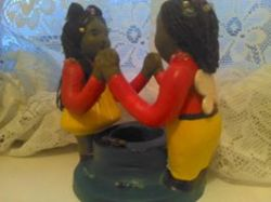 Artwork preview : Ceramics, Fontaine : couple candle holder